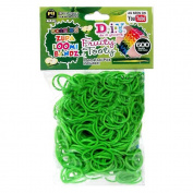 D.I.Y. Do it Yourself Bracelet Zupa Loomi Bandz 600 Fruity Tooty Green Apple Scented Rubber Bands with 'S' Clips