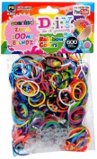 Loom Bandz Rainbow Colours YUMMY SCENTED Zupa Loomi Bandz D.i.Y. (600 Bands per Pack) + 3 Free Loom Charms To Decorate Your Bracelet!!!
