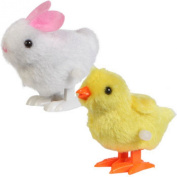 Hopping Wind Up Easter Chick and Bunny