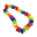 Rainbow Flower Leis : package of 12