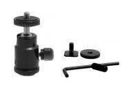 OEC Metal Micro Tripod Ball Head 0.6cm Kit with Flash Shoe Multi-Purpose Mini Ballhead