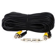 VideoSecu 30m Video Power BNC RCA Cable for CCTV Security Cameras 1JE
