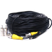 VideoSecu 46m Video Power Security Camera Cable for CCTV Surveillance DVR System Installation 1LY