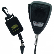 Special Black Colour Astatic 4 Pin 636L w/ Free Retactable GearKeeper Deluxe CB Microphone!