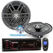 Brand New JVC Package Car Stereo Receiver MP3 WMA CD Player (KD-R440) + 17cm 2-way Car Speakers