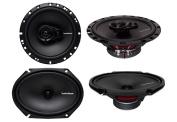 2) Rockford Fosgate R168X2 15cm x 20cm 110W 2 Way + 2) R165X3 17cm 90W 3 Way Speakers