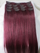 2014 Spring Fashion Trend 70cm 10pcs #Blue/#yellow/#f-red/#red/ Human Hair Remy Straight Clips in Extensions Wholesale 140g