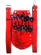 ZZZRT ZS-1007 New Professional Hairdressing Scissors Shear Wallet Holster holder pouch Red