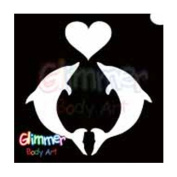 Glimmer Body Art Glitter Tattoos - Dolphin Heart (5/pack) [Toy]