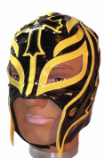 WWE Official Rey Mysterio Youth Size Black and Yellow Wrestling Mask Licenced