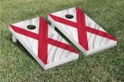 Alabama Rippled Flag Cornhole Game Set