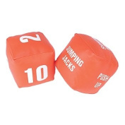 Gonge Cubes with Actions Numbers Fitness Dice, Set of 2