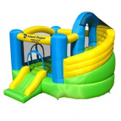 Island Hopper Jump-A-Lot Inflatable with Twist Slide