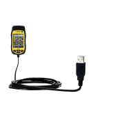 USB Data Hot Sync Straight Cable designed for the Trimble Juno 3D 3B 3E with Charge Function - Two functions in one unique Gomadic TipExchange enabled cable