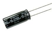 10pcs Rubycon ZLH 2200uF 10v 105c Radial Electrolytic Capacitor Low ESR