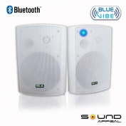 Bluetooth 17cm Indoor/Outdoor Weatherproof Patio Speakers (White- pair)- BlueVIBE by Sound Appeal