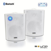 Bluetooth 13cm Indoor/Outdoor Weatherproof Patio Speakers (White- pair)- BlueVIBE by Sound Appeal