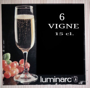 Luminarc Vigne 15cl French Crystal Champagne Flutes
