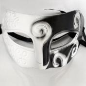 Tech360cc Retro Roman Gladiator Party Masks Masquerade Mask - White & Black