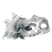 TOOGOO Venetian Style Silver Eye Costume Masquerade Mardi Mask