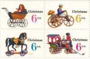 Christmas Variety Issue Set of 4 x 6 Cent US Postage Stamps NEW Scot 1415-18