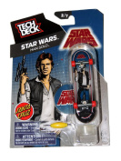 2014 Santa Cruz Star Wars Hans Solo Tech Deck Mini Finger Skateboard #2/7 with Display Stand
