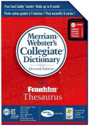Palm Merriam-Webster's Collegiate Dictionary and Franklin Thesaurus