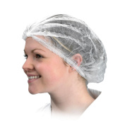 YOU-Salons - Disposable Pleated Cap White (100) - ECOEP9870