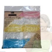 Wennow 10 Pcs Standard Size Disposable Plastic Shower Caps