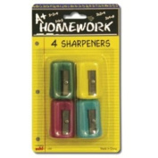 Pencil Sharpeners - 4 Pack