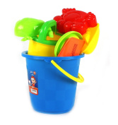 Outdoor Fun 8 Piece Children's Kid's Toy Beach/Sandbox Tool Playset, Comes with Bucket, Hand Tools, Sand Moulds