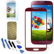 Red Replacement Screen Glass Lens Kit For for for for for for for Samsung Galaxy S4 SIV i9500 + Tools