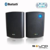 Bluetooth 13cm Indoor/Outdoor Weatherproof Patio Speakers (Black- pair)- BlueVIBE by Sound Appeal