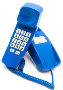 Trimline Phone - Classic Blue - Durable Retro Novelty Telephone - An Improved Version of the Princess Phones in 1965 - Replica Retro Styling Big Button Phones For Seniors - 30 Day. 3 Year Warranty - Desk or Wall Mountable - Unique ..