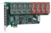 OpenVox A800E11 8 Port Analogue PCIe Base Card with 1 FXS and 1 FXO