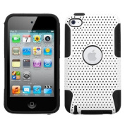 Snap-On Protector Hard Case for Apple iPod Touch 4th Generation / 4th Gen - Love Party White/Black Hybrid Design + 11cm Lens/Screen Cleaning Cloth