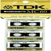 Micro Cassette 60-minfor Audio Only 3-pk
