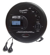 Supersonic SC253 Portable CD/MP3 Player with FM Radio