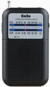 Kaito KA200 Pocket AM/FM Radio, Black