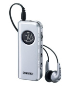 SONY FM stereo / AM radio pocketable Silver M98 SRF-M98 / S