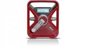 Eton FRX3 Hand Turbine NOAA AM/FM Weather Alert Radio with Smartphone Charger - Red