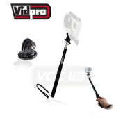 Vidpro 70cm Extendable Pocket Size Monopod MP-10 And Tripod Adapter FOR GOPRO Hero 1/ 2/ 3