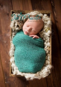 Birdy Blue Stretch Newborn Baby Wrap Photo Prop (SwaDDLinG and HAnGinG VideOs) Newborn Photography Prop, Baby Props