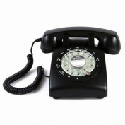 Black Colour Vintage 1970's STYLE ROTARY Retro old fashioned Rotary Dial Home Telephone