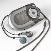 POCKET RADIO/NECK STRAP AM/FM SILVER [Electronics]
