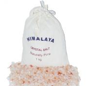 Natural Crystal Himalayan Bath Salts Pink 1 kg in Cotton Bags
