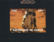 Star Wars stamp - R2-D2 imperforate sheet - Superb condition and never hinged - 2013 / Congo / 750F