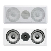 Acoustic Audio CS-IW26CC 250 Watts In-Wall Dual 17cm Centre Channel Speaker, White