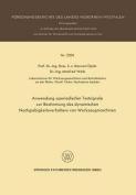 Anwendung Aperiodischer Testsignale Zur Bestimmung Des Dynamischen Nachgiebigkeitsverhaltens Von Werkzeugmaschinen [GER]