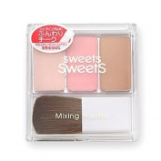 Sweets Sweets Canmake Cezanne Mixing Palette Blush Highlight Made in Japan